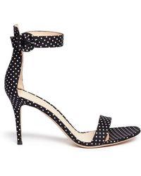Gianvito Rossi Polka Dot Print Sandals - Lyst