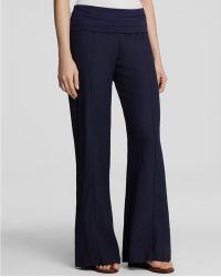 Moon & Meadow - Foldover Linen Trousers - Lyst