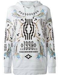 Marcelo Burlon County Of Milan White Printed Sweatshirt - Lyst