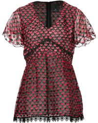 Anna Sui Ombre Hearts Silk Top - Lyst