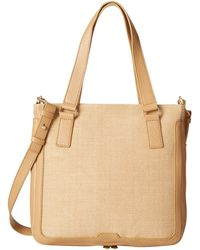 Fossil Preston Shopper beige - Lyst