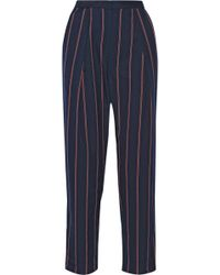 By Malene Birger Sega Pinstriped Twill Tapered Pants - Lyst