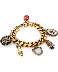 Alexander McQueen | Crystal Charm Bracelet | Lyst