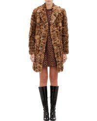 Saint Laurent Sable Fur Coat - Lyst