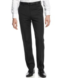 DKNY Black Pindot Pants Extra Slim Fit - Lyst