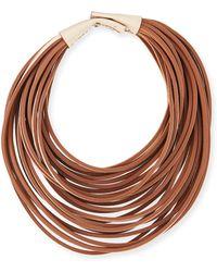 Brunello Cucinelli Multi-strand Leather Necklace - Lyst