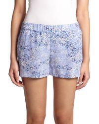 Equipment Landis Silk Floral-Print Shorts - Lyst