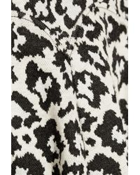 Tibi Leopardpatterned Stretchknit Dress - Lyst