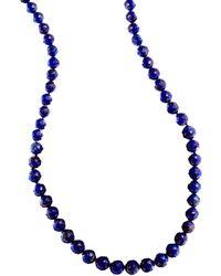 Lana Jewelry Splash Lapis Beaded Necklace - Lyst