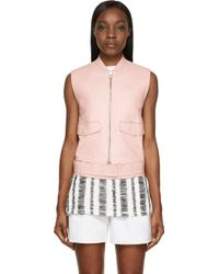 3.1 Phillip Lim Pink Leather Vest - Lyst