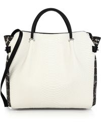 Nina Ricci Large Two-Tone Python & Leather Satchel - Lyst