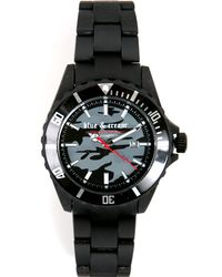 Blue & Cream - Black Army Camouflauge Timepiece - Lyst