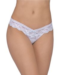 Hanky Panky Annabelle Low-Rise Thong - Lyst