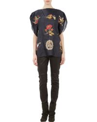 Isabel Marant Embroidered Silk Ivo Poncho Blouse - Lyst