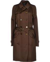 C'n'c' Costume National Brown Full-Length Jacket - Lyst