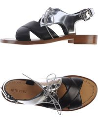 Miu Miu Sandals - Lyst