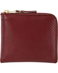 Comme des Garçons Luxury Half-Zip Wallet - Lyst