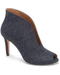 Vince Camuto Vc Signature Ronan - Plunge-Cut Peep Toe Ankle Bootie blue - Lyst