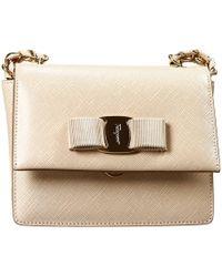 Ferragamo Clutch Bag Ginny Crossbody Leather Tissu - Lyst