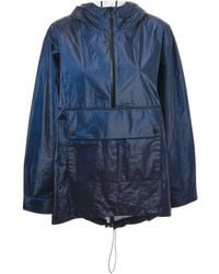 T By Alexander Wang Laminated Hooded Jacket - Lyst