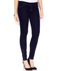 Guess Lowrise Anklesnap Jeggings Silicone Rinse Wash - Lyst