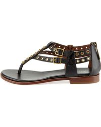 Donald J Pliner Lulu Studded Leather Sandal Black - Lyst