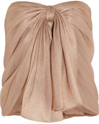 Jason Wu Metallic Organza Corset Top - Lyst