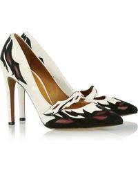 Isabel Marant Kylie Leather-Detailed Suede Pumps - Lyst