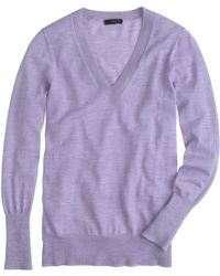 J.Crew Merino Wool V-Neck Sweater - Lyst