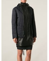 Alexander Wang | Two-tone Padded Coat | Lyst