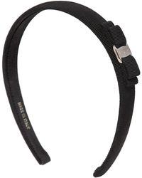 Ferragamo Grossgrain Headband With Bow black - Lyst