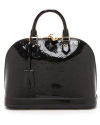 What Goes Around Comes Around Louis Vuitton Vernis Alma Bag - Black - Lyst