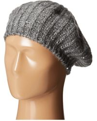 San Diego Hat Company Knh3302 Sequin Knit Beret - Lyst