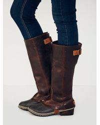 Sorel Slimpack Tall Weather Boot - Lyst
