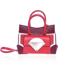 Sara Battaglia Red and White Small Linda Bag - Lyst