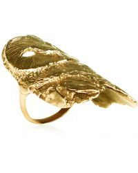 Dominique Lucas - Owl Ring Gold - Lyst