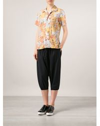 Engineered Garments - Drop Crotch Cropped Trousers - Lyst