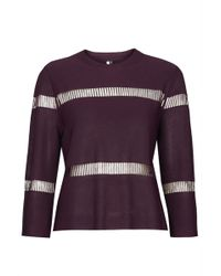 Topshop Knitted Ladder Detail Top - Lyst