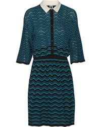 M Missoni Crochetknit Mini Dress - Lyst