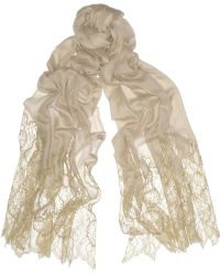 Valentino Lace and Woolblend Scarf - Lyst