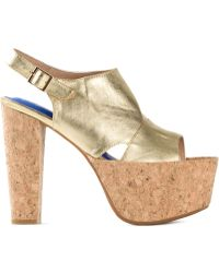Jeffrey Campbell Metallic Platform Sandals - Lyst
