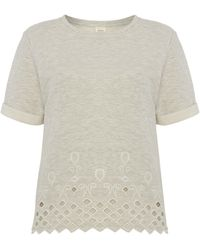 Linea Weekend Cut Out Sweat Top - Lyst