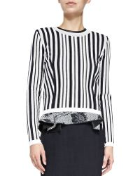 O'2nd - Hatu Perforated Striped Sweater - Lyst