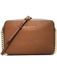 MICHAEL Michael Kors Jet Set Travel Saffiano Crossbody Bag - Lyst