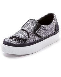 Chiara Ferragni Slip On Sneakers - Pewtereyes - Lyst