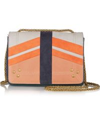 Jérôme Dreyfuss - Eliot Paneled Nubuck And Pebbled-Leather Shoulder Bag - Lyst