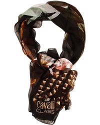 Class Roberto Cavalli Stola Seta Stampa Fiori - Lyst
