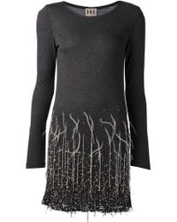 Haute Hippie Sequin Embroidered Ombre Dress - Lyst