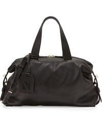 Reed Krakoff Altas Golden-Trim Mini Leather Satchel Bag black - Lyst