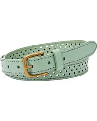 Fossil - Dot Perforated Leather Belt - Lyst